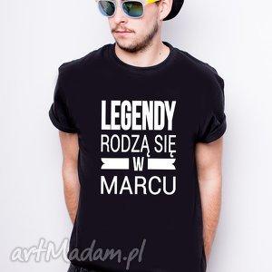 Koszulka męska Legendy Rodzą się w Marcu, kosuzlka, marzec, urodziny, dlaniego