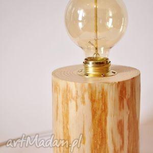 drewniana lampka wood edison, lampka, lampa, drewno, rustykalne, vintage