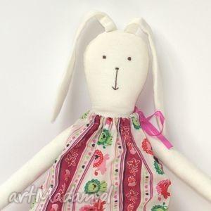 Prezent Króliczek w różowej sukience, króliczek, zajączek, zając, wielkanocny