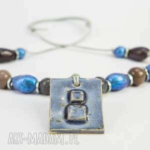 naszyjnik letnie pastele - naszyjnik, biżuteria, prazent, lato, metaliczny