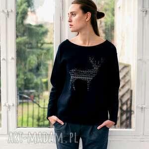 bluzy deer pattern oversize bluza, ubrania, unikalny prezent