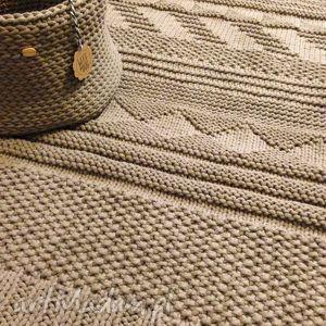 Beżowy dywan ze sznurka bawełnianego gotowy na już, dywan, sznurek, gotowy, carpet