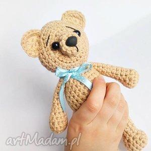 Beżowy miś z kokardką - 15 cm - ,misie,miś,przytulanki,zabawki,