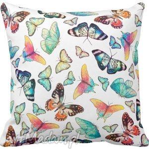 Poszewka na poduszkę dziecięca kolorowe motyle 3068 - poszewka, motyl, motyle