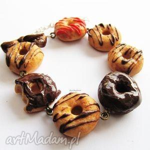 bransoletka - donut, bransoletka, modelina, masa, fimo, donut bransoletki biżuteria