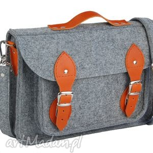 15 inch laptop macbook pro, pro retina - torba, filc, felt, skóra, leather, handmade
