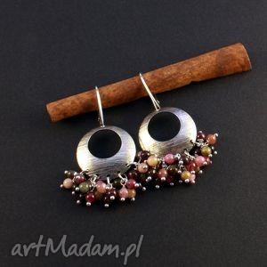 turmalinowe kołysanki, srebro, kolczyki, turmalin biżuteria