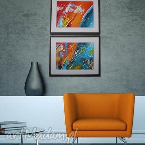 obrazy abstrakcja 7 - 100x40cm obraz ręcznie malowany, obraz, kolorowy, płótno