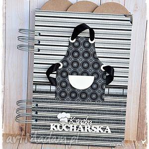 scrapbooking notesy męskie gotowanie - przepiśnik z przekładkami, przepisy