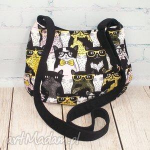 midi okularnicy, kot, koty, kocia, okulary, prezent, kotek na ramię torebki