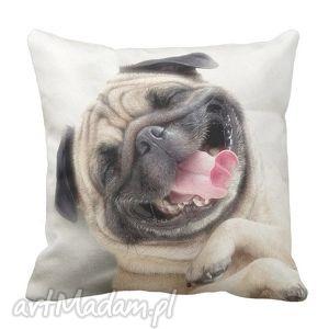 artmini poduszka ozdobna uśmiechnięty mops 6341, mops, pies, home dom