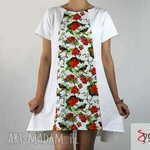 ubrania tint sukienka tunika dresowa z nadrukiem, sukienka, tunika, dzianina