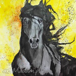 adriana laube art obraz na płótnie siła 100x70cm artystki plastyka adriany laube, koń