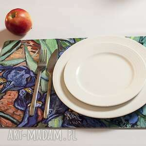 viva larte zestaw 4 dużych podkładek na stół, van gogh irysy, gogh, impresjonizm