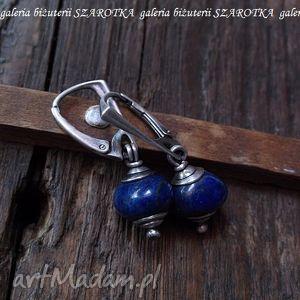 NOCNE NIEBO kolczyki z lapisów lazuli i srebra, lapis, lazuli, srebro, oksydowane
