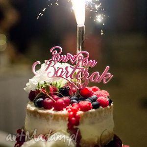 spersonalizowany topper na tort weselny z waszymi imionami druk 3d, topper, figurka