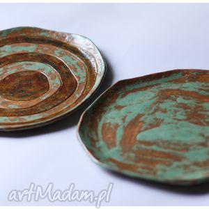 zestaw 2 talerzy etno mazaki, ceramika, talerz dom
