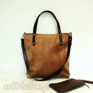 shopper bag, bązowa, torba, modna, klasyczna, uniwersalna, szyta torebki, unikalne
