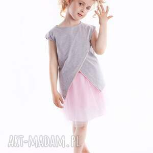 dodosklep bluzka db10, modna, asymetryczna, stylowa dla dziecka