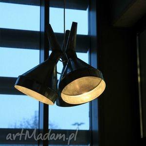 lampa z lejków, loft, modern, ocynk, nowoczesny, lampa, design dom