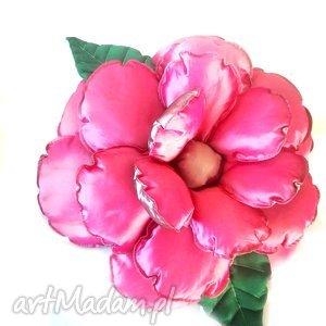 poduszki poduszka kwiat w szarości i różu z tafty, poduszka, kwiat, tafta dom