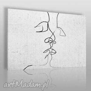obrazy obraz na płótnie - abstrakcja pocałunek 120x80 cm 31601