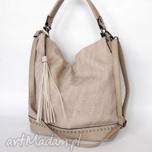torba z ekoskóry beżowa, torba, torebka torebki