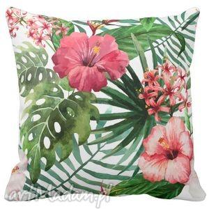 Poduszka dekoracyjna Kwiaty tropic 6518 - tropic, kwiaty, tropikalne, lato
