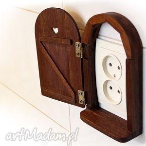 Mini drzwiczki, drewniane, sapelle, ścianę, mahoń, mini