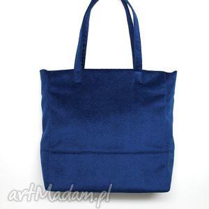 shopper bag - ciemny niebieski, elegancka, nowoczesna, handmade, prezent, święta
