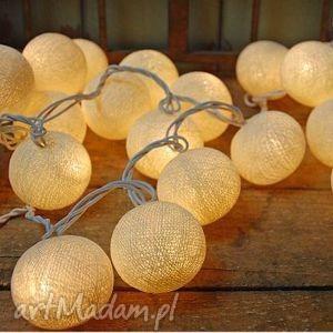 qule cotton balls light kremowa poświata - 35 kul, dekoracja, sali, weselnej
