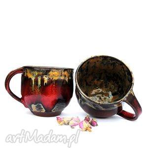ceramiczne kubki- para dla pary, kubek, kubki, naczynia, ceramika, użytkowe