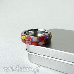 hand-made obrączki kolorowa obrączka