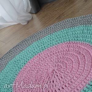 dywan bawełniany pastel 140cm ze sznurka - kolorowa manufaktura , dywan, dom, dzieci