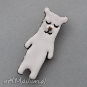 handmade pomysł na upominek na święta cieniasek-broszka ceramiczna