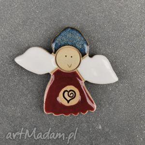 ceramiczny magnes aniołek , aniołek, magnes, ceramiczny