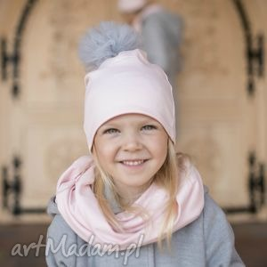 hand made ubranka komplet rosa czapka komin