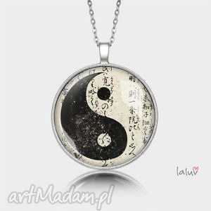 Medalion okrągły YIN YANG, symbol, buddyzm, spokój, pokój, grafika, talizman