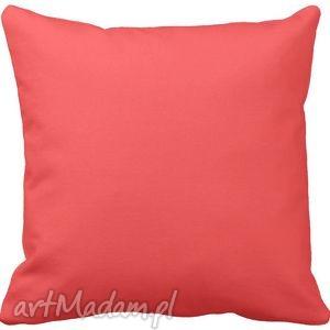 poduszki poduszka ozdobna dekoracyjna koralowa gładka 6571, poduszka, minimalistyczna