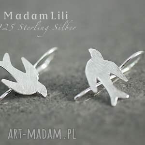 Prezent 925 srebrne kolczyki PTAKI, kolczyki, srebro, ptaki, natura, prezent