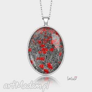 medalion owalny pole makowe - maki, ludowe, kwiaty, prezent, rękodzieło, grafika