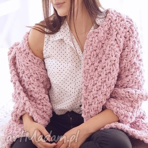 heather chunky - sweter, chunky, dziergany, druty, gruby