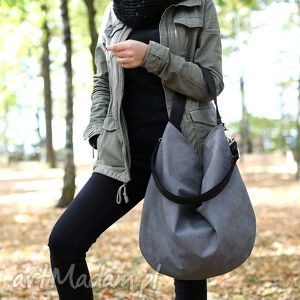 hobo xl black ash, torba, torebka, worek, workowata, szara, czarna torebki