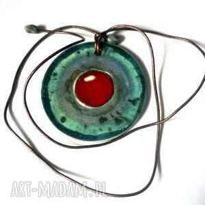 ceramiczny szkliwiony naszyjnik wymarzony - ceramika