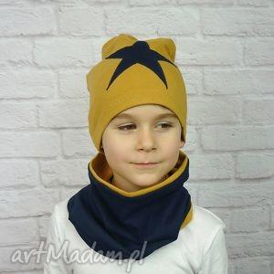 cienka czapka i komin dla chłopca, czapka, komin, szalik, chłopiec, chłopak, bawełna