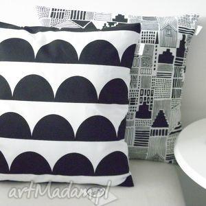poduszki poszewka na poduszkę 40x40 półksiężyce czarne, poszewka, poduszka