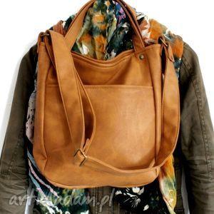 na ramię miniks rudy vege, torba, worek, vegan, boho, torebka, pod choinkę
