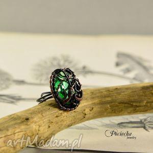 święta prezent, demeter - pierścionek, miedź, regulowany, pociecha