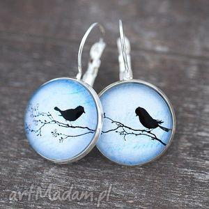 ♥ Życie we dwoje III Nostalgiczne kolczyki, ptaki, gałąz, natura