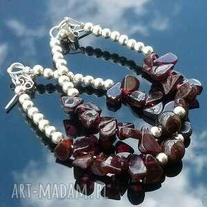 kolczyki alioth, granat biżuteria